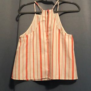 Traveling Chic Boutique Tops - TCB Orange/white striped top. Size S